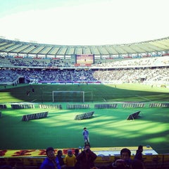 Photo taken at 味の素スタジアム (AJINOMOTO STADIUM) by Worldtripper2015 on 12/1/2012