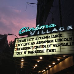 Photo taken at Cinema Village by Noah R. on 10/4/2012