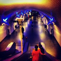 Photo taken at Metro Baixa-Chiado [AZ,VD] by Francisco H. on 9/22/2012