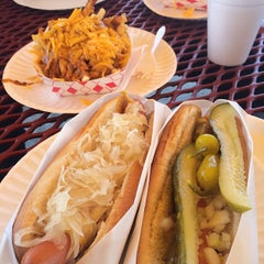 Photo taken at Pacific Coast Hot Dogs (PCH Dogs) by Ryan K. on 5/6/2014