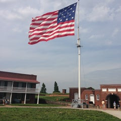 Photo taken at Fort McHenry National Monument and Historic Shrine by Christa W. on 5/10/2013