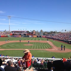 Photo taken at Scottsdale Stadium by Kelly B. on 3/5/2013