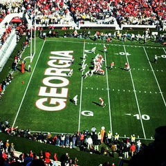 Photo taken at Sanford Stadium by Jamar L. on 11/24/2012
