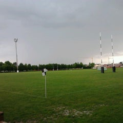 Photo taken at Campi Petrarca Rugby by Tommy D. on 5/20/2013