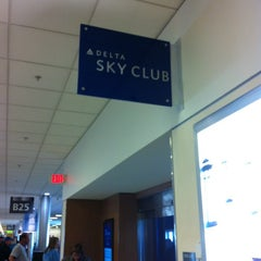 Photo taken at Delta Sky Club by Jeff B. on 1/26/2013