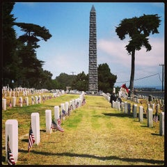 Photo taken at Fort Rosecrans National Cemetery by Karleen H. on 5/27/2013