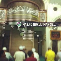 Photo taken at Masjid Nurul Iman Serendah by Dan M. on 11/23/2013