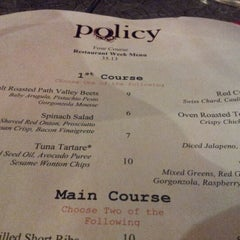 Photo taken at Policy Restaurant & Lounge by Brette C. on 2/9/2013