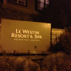 Photo taken at Le Westin Resort & Spa, Tremblant, Quebec by Miguel C. on 10/17/2013