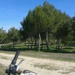 Photo taken at Pinar Conde de Orgaz by Cristina S. on 2/23/2014