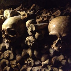Photo taken at Catacombes de Paris by Brian S. on 3/8/2013