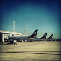 "Photo taken at Aeroporto Roma Fiumicino ""Leonardo da Vinci"" (FCO) by Antonio P. on 5/14/2013"