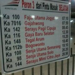 Photo taken at Stasiun Pasar Senen by Muchamad F. on 12/6/2012