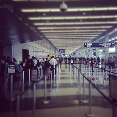 Photo taken at Terminal 3 Security Checkpoint by Neil S. on 10/31/2012
