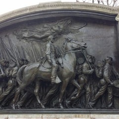 Photo taken at Robert Gould Shaw Memorial by Beau G. on 2/23/2014