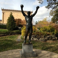 Photo taken at Rocky Statue by Jeb S. on 11/12/2012
