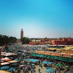 Photo taken at Place Jemaa el-Fna | ساحة جامع الفناء by Khaoula E. on 4/16/2013