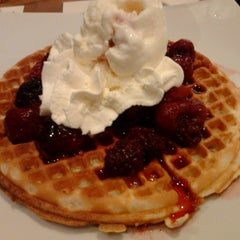 Photo taken at Crepes & Waffles by Juliana F. on 1/17/2013