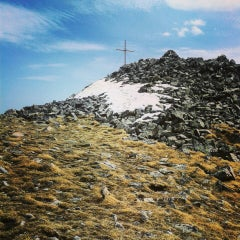 Photo taken at вр. Безбог, 2645м / Bezbog peak, 8677ft by nempakuc on 4/17/2016