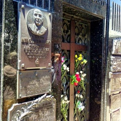 Photo taken at Eva Peron's Grave by Fred G. on 12/28/2012