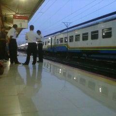 Photo taken at Stasiun Pasar Senen by Iis H. on 12/21/2012