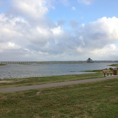 Photo taken at Lighthouse Beach And Bird Sanctuary by Kathy S. on 5/30/2013