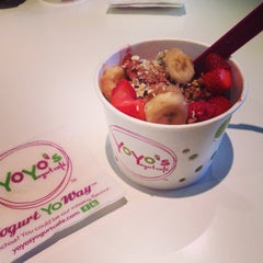 Photo taken at Yoyo's Yogurt Cafe by Cynthia C. on 5/27/2014