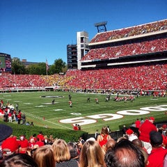 Photo taken at Sanford Stadium by Jason D. on 10/12/2013