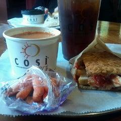 Photo taken at Cosi by Myra T. on 10/18/2012