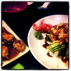 Photo taken at Origami Sushi by Ashley D. on 2/24/2014