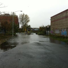 Photo taken at Frankenstorm Apocalypse - Hurricane Sandy by Elizabeth K. on 10/29/2012