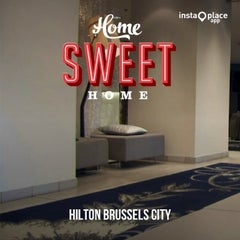 Photo taken at Hilton Brussels City by Bengu T. on 7/26/2013