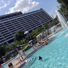 Photo taken at Contemporary Resort Pool by Brent on 5/9/2014