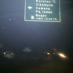 Photo taken at Jalan Tol Lingkar Luar Jakarta Seksi E1 (JORR E1) by Love Re on 10/31/2013