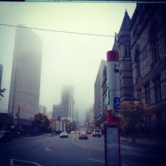 Photo taken at TTC Bus #6 Bay by Piper M. on 10/25/2012