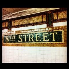 Photo taken at MTA Subway - 8th St/NYU (N/R) by Jessica L. J. on 5/19/2013