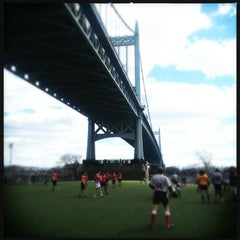 Photo taken at Randall's Island by bethanne on 3/23/2013