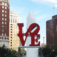 Photo taken at JFK Plaza / Love Park by Tina W. on 7/7/2013