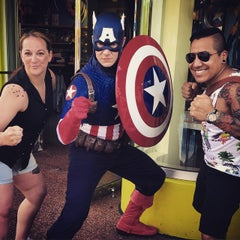 Photo taken at Captain America Diner by Amber R. on 5/27/2015