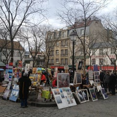 Photo taken at Place du Tertre by Marina P. on 3/5/2013