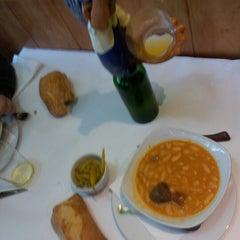 Photo taken at Restaurante Sidrería El Horreo by Borja on 1/11/2013