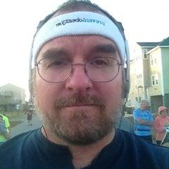 Photo taken at Obx half marathon starting line by Chris C. on 11/11/2012