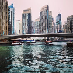 Photo taken at Dubai Marina Walk ممشى مرسى دبي by Emerson P. on 4/11/2013