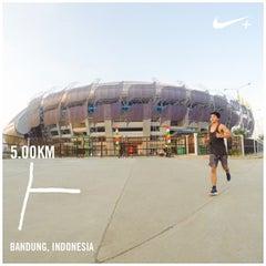 Photo taken at Stadion Gelora Bandung Lautan Api (GBLA) by Faisal P. on 8/16/2015