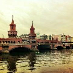 Photo taken at Oberbaumbrücke by Lenka T. on 11/27/2012