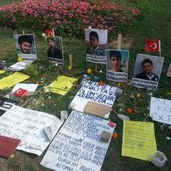 Photo taken at Taksim Gezi Parkı by taygun u. on 7/16/2013