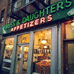 Photo taken at Russ & Daughters by Steve K. on 12/26/2012