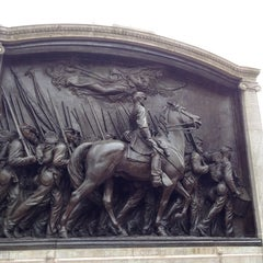 Photo taken at Robert Gould Shaw Memorial by Emilie A. on 4/13/2014
