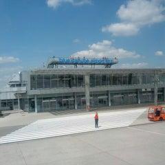 Photo taken at Blue Danube Airport Linz (LNZ) by Sonie C. on 7/12/2013