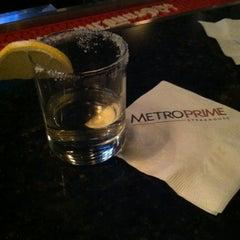 Photo taken at MetroPrime Steakhouse by Karen B. on 11/24/2013